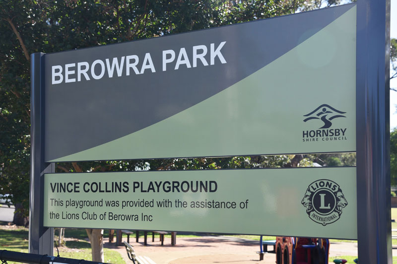 Berowra Park gets a replacement sign