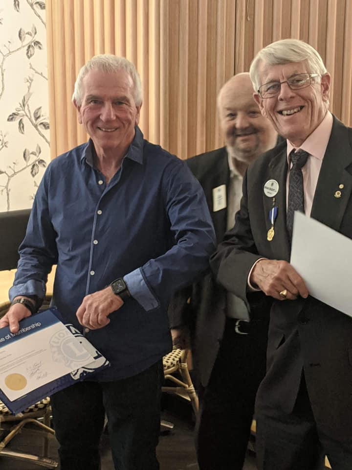 New member Ian Corbridge inducted