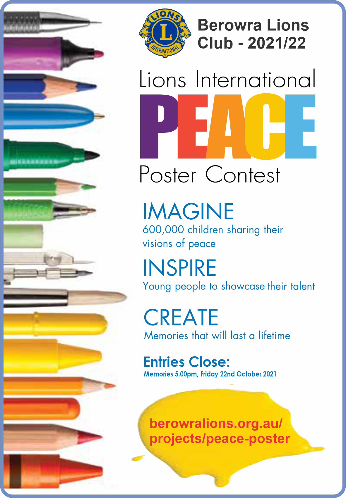 The 2021-2022 Peace Poster Contest.