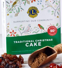 Traditional Lions Christmas Cake 1kg