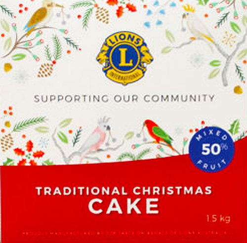 Lions Christmas Cake 1.5kg